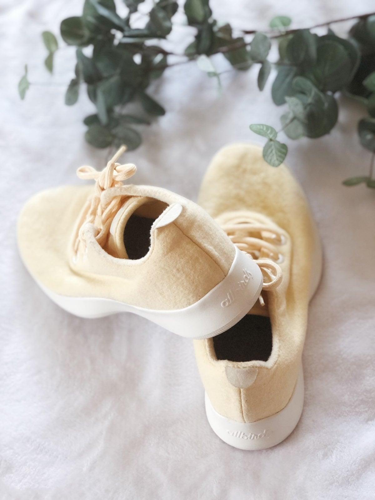 Allbirds Wool Pastel Yellow Runners Shoe