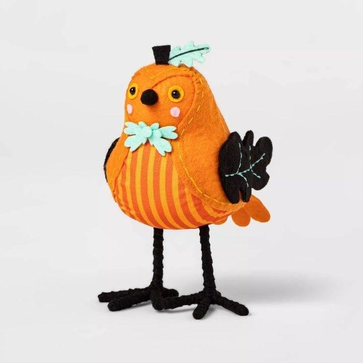 Pumpkin Bird Decorative Halloween Figuri