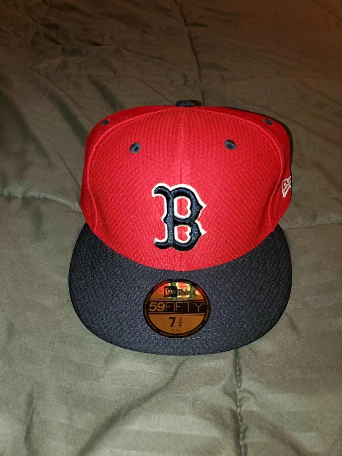 BOSTON RED SOX NEW ERA HAT SZ 7 3/4