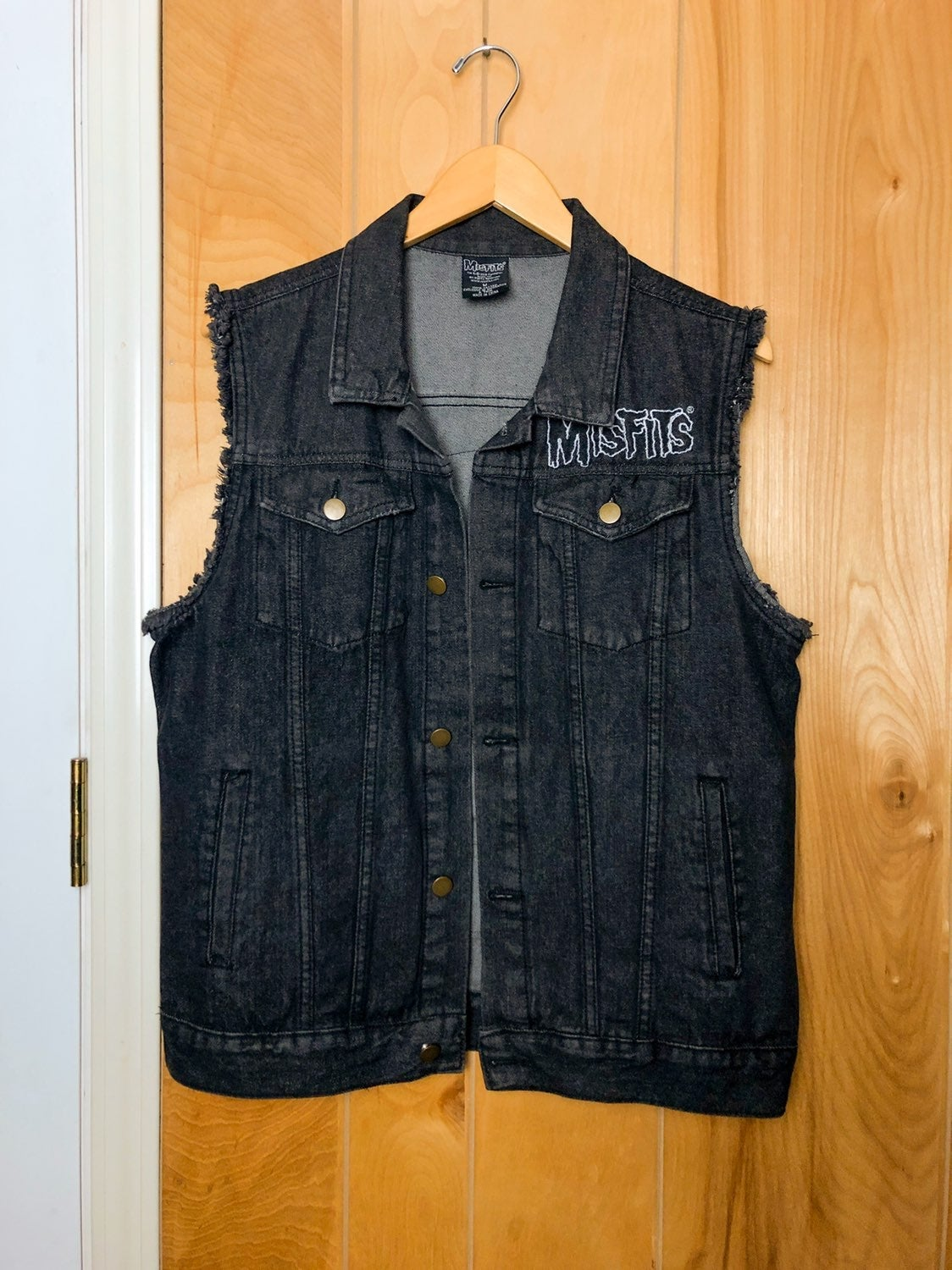 Misfits Fiend Club Denim Jacket Vest