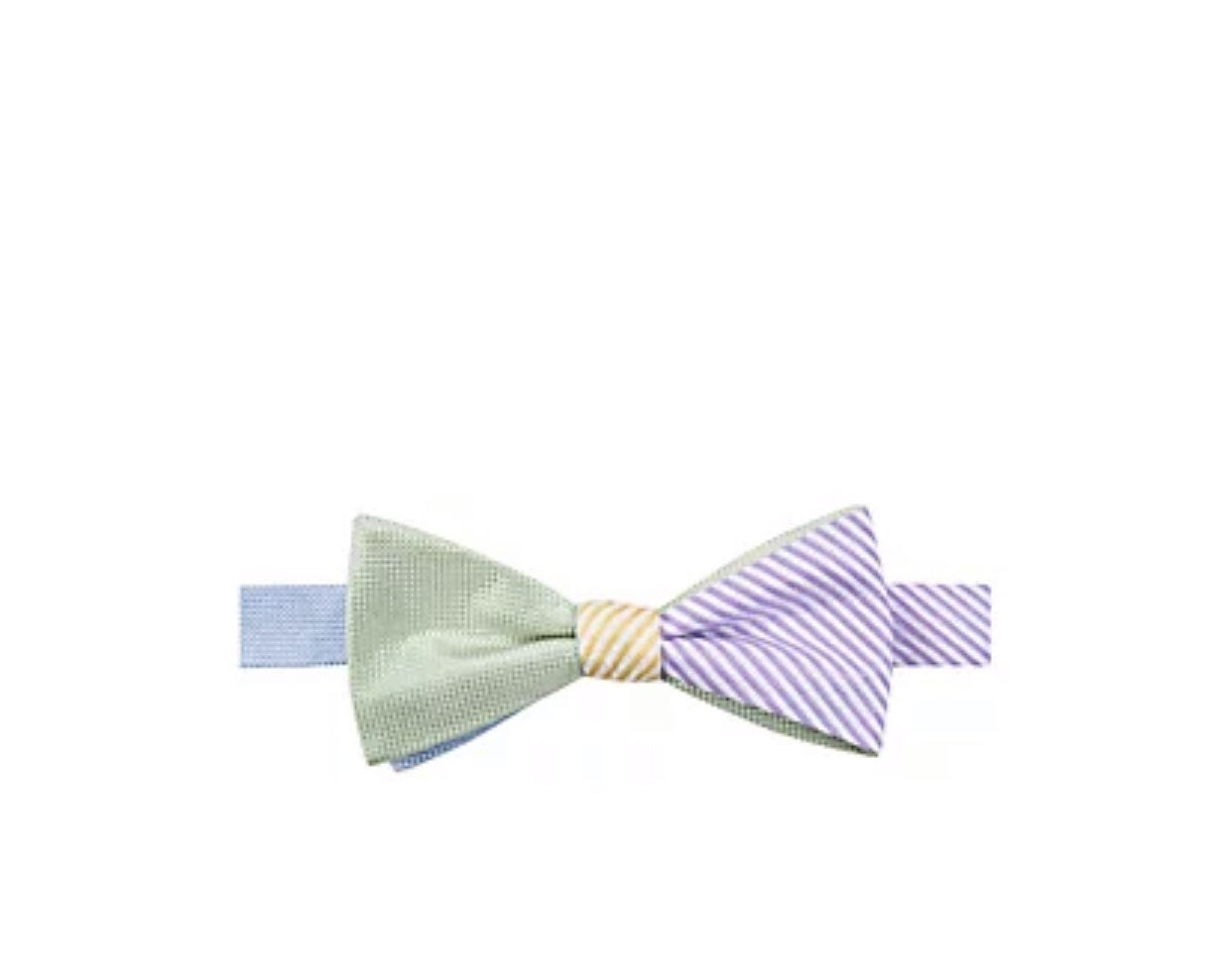 (2) Saddlebred Reversible Pastel Bow Tie