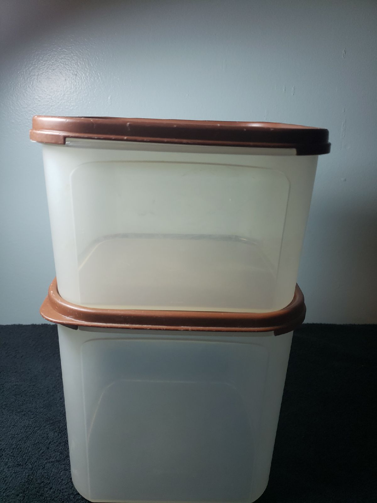Tupperware Brown Lids Stackable Square S