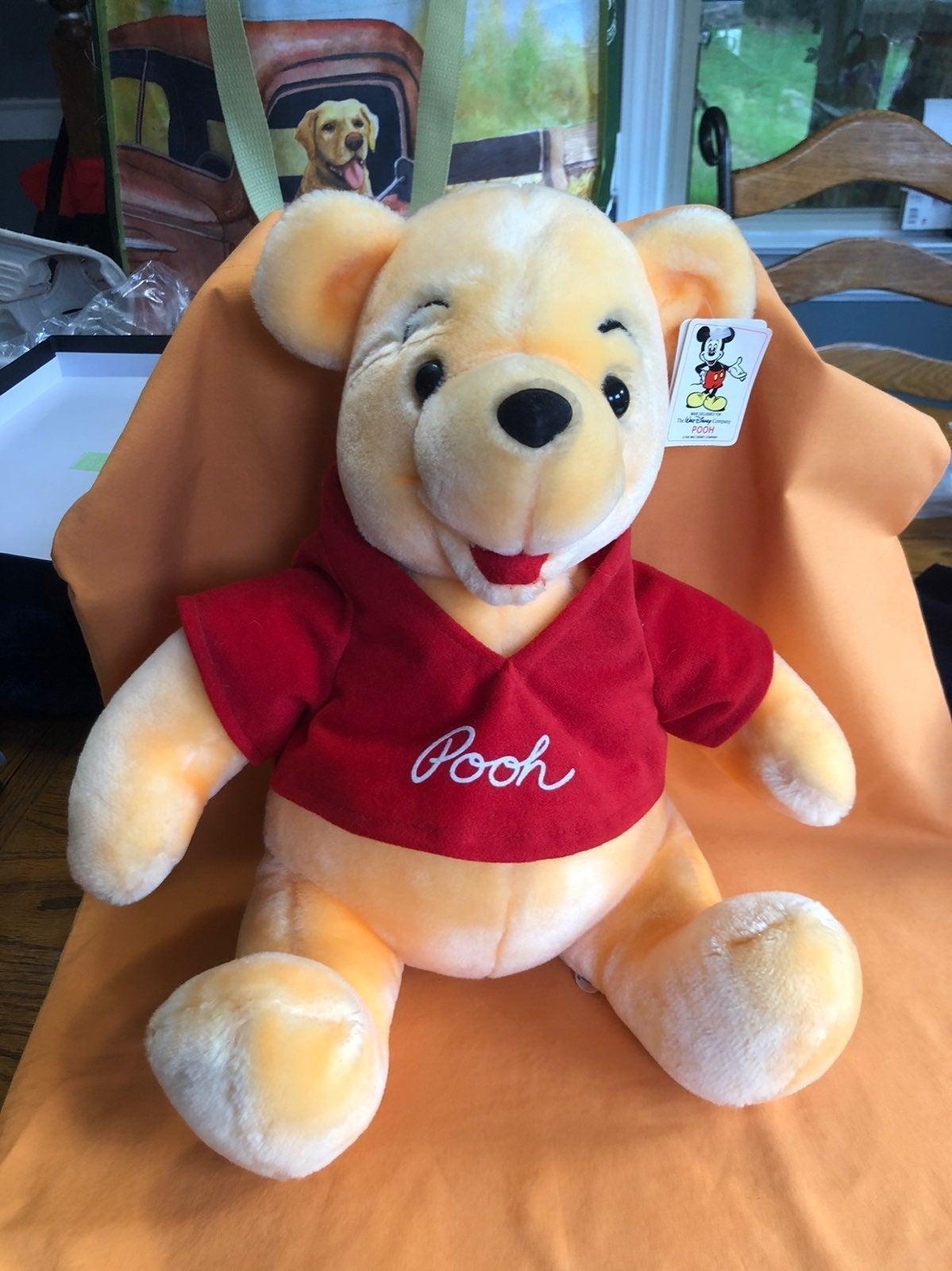 Vntg Medium Pooh Plush NWT