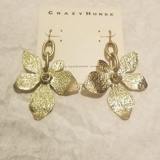 Crazy Horse Flower Earrings