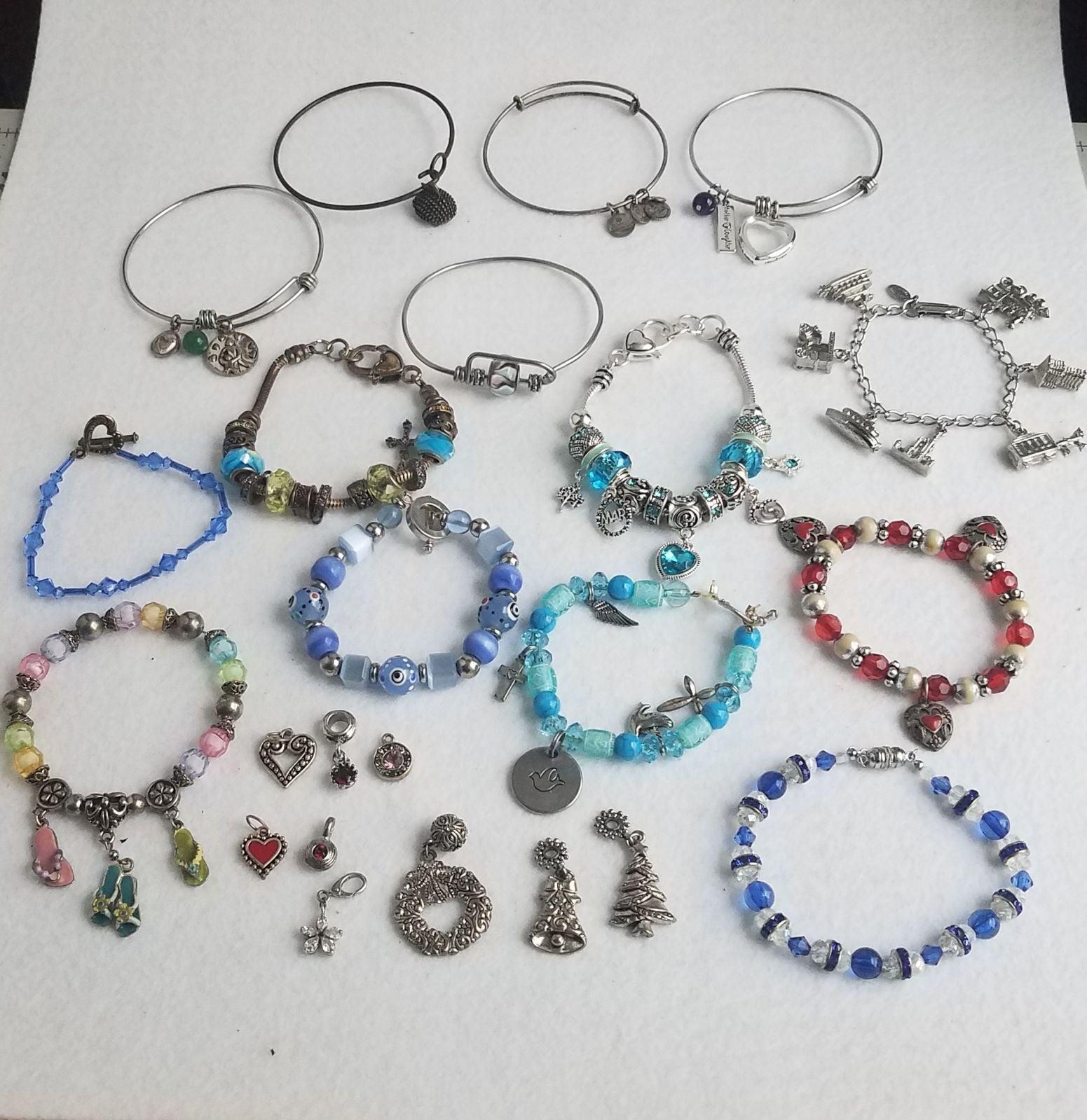 14 Charm Bracelets and 9 Charms