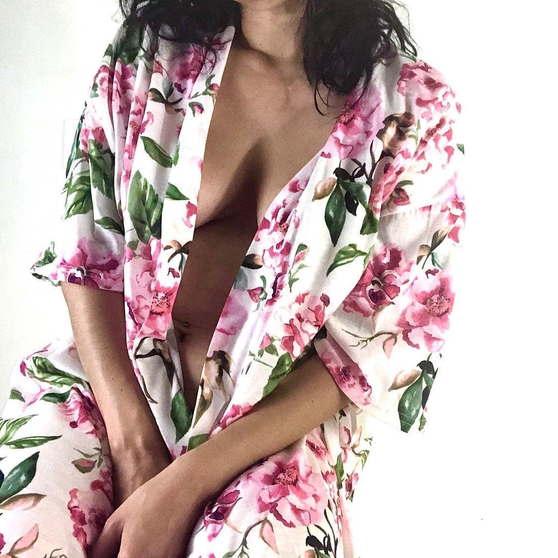 Show Me Your Mumu Pink Floral Kimono