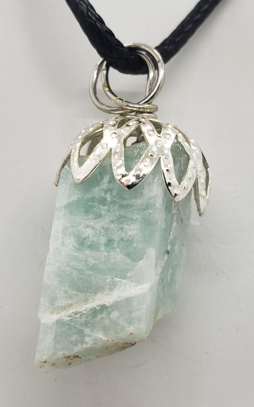 Natural Blue Calcite Necklace