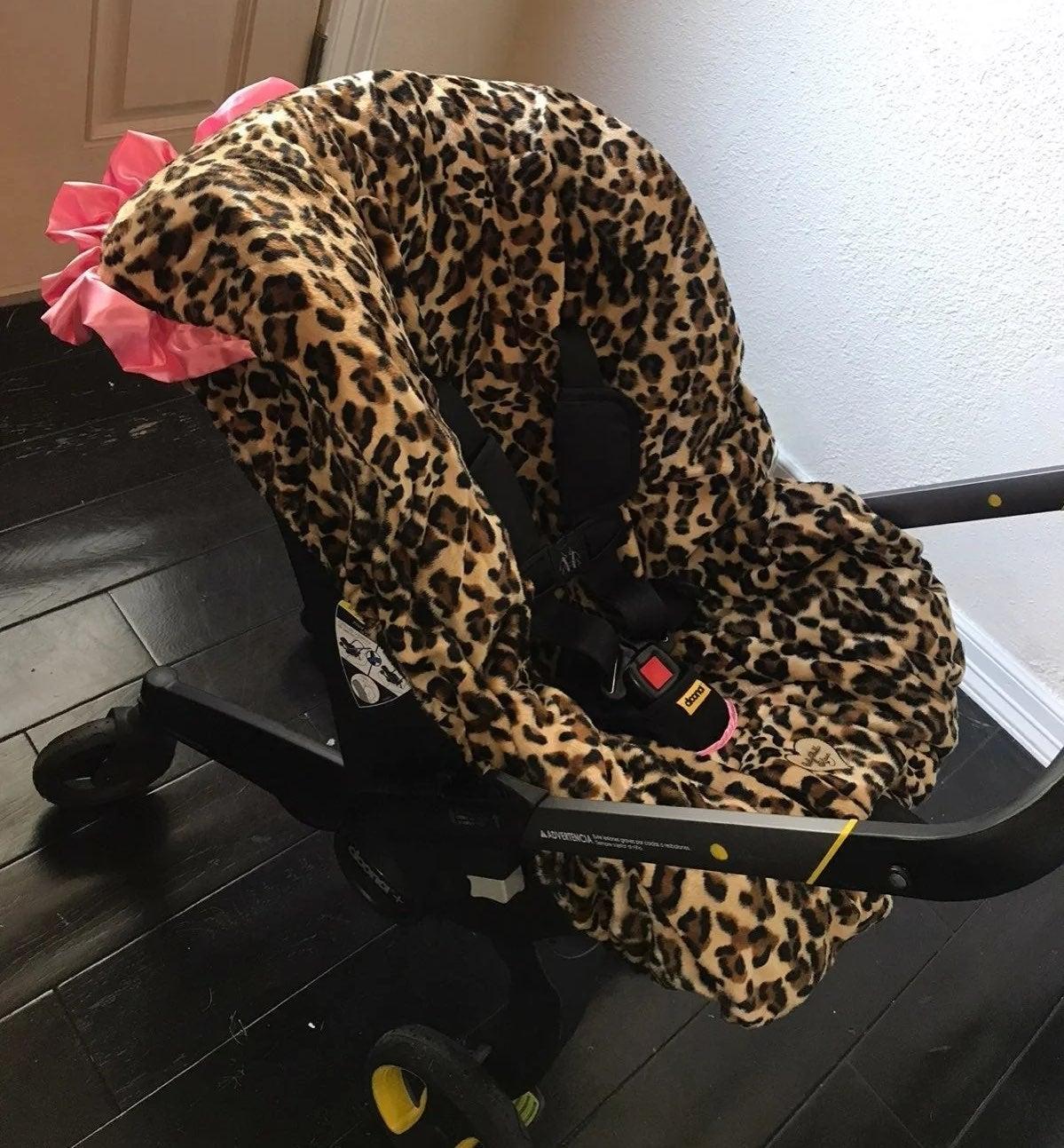 Baby Bella Leopard print Car Seat Cover