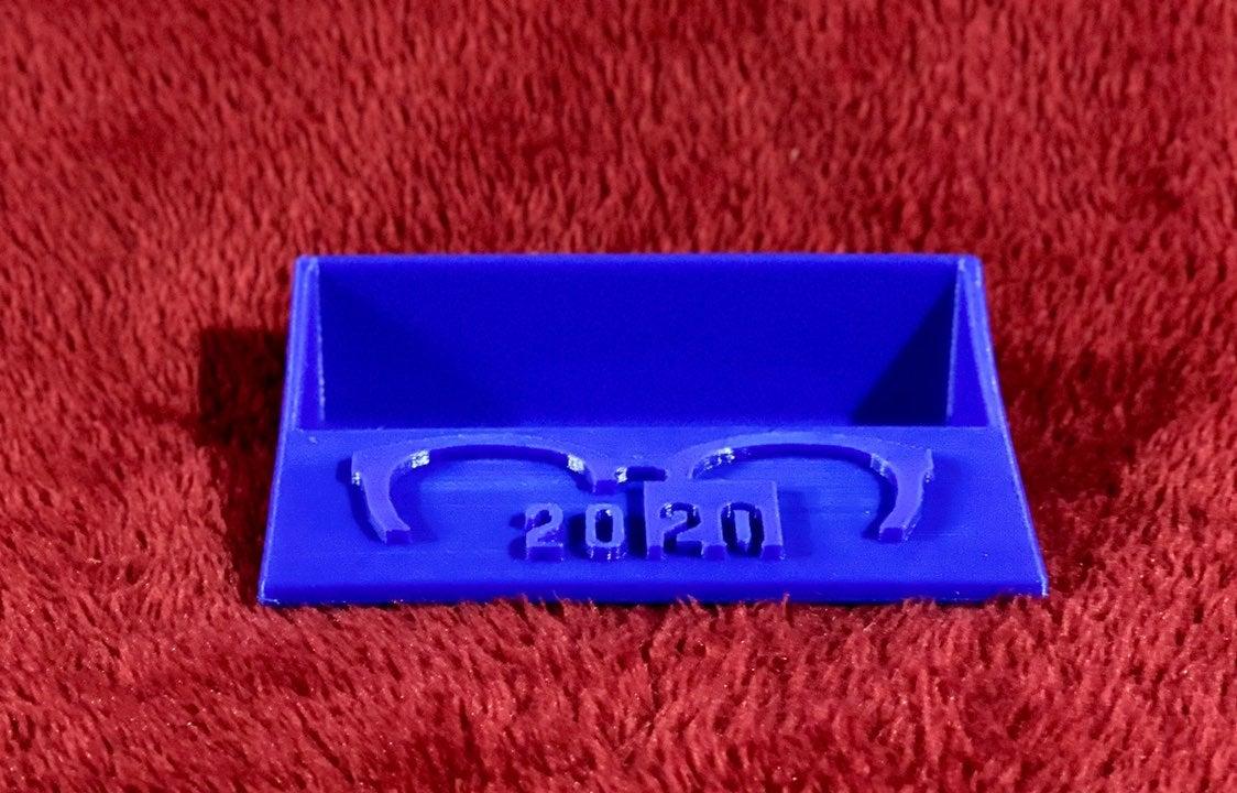"3D printed ""2020"" business card holder!"