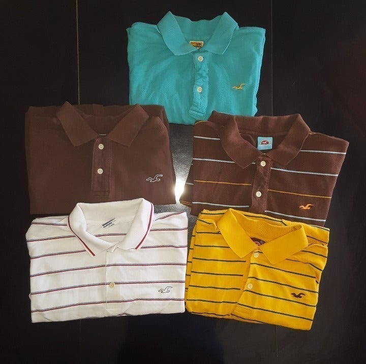 Lot of 5 Vintage Hollister Polos Shirts