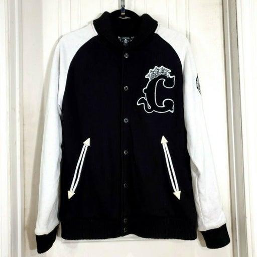 Crooks Castles Black Varsity Jacket Sz M
