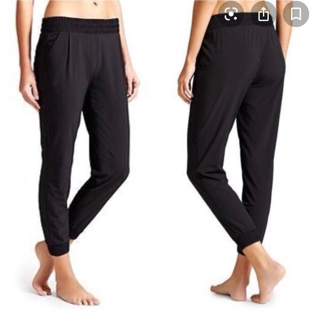 Athleta Aliso black jogger pants 10 A4