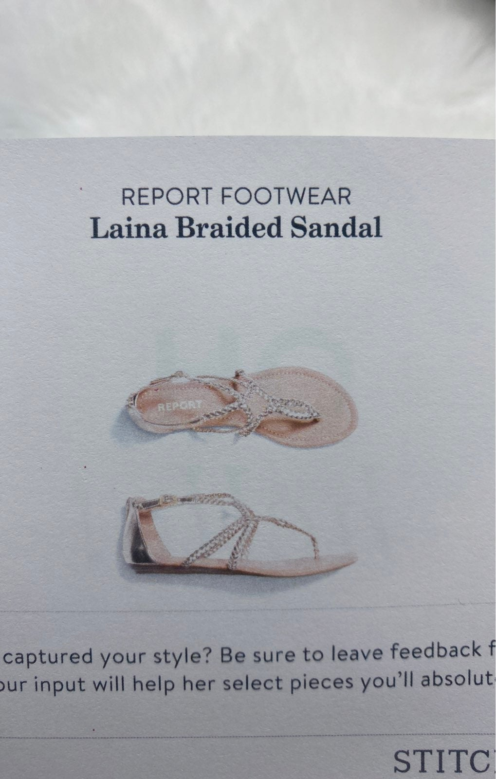 NWT Report Footwear Laina Braided Sandal