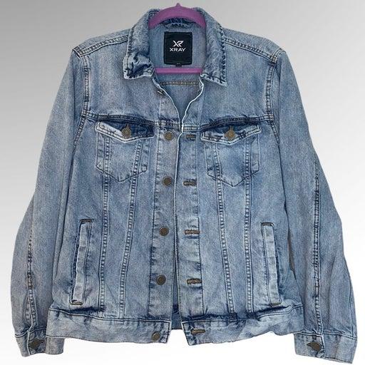 Xray mens denim jean jacket Sz L