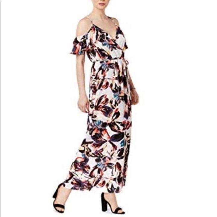 NEW Bar 3 Floral Cold Shoulder Sydney Maxi Dress Small