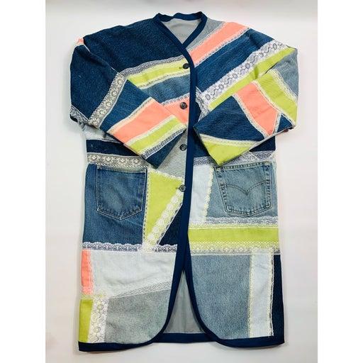 VTG 90s Streetwear Patchwork Denim Jacke