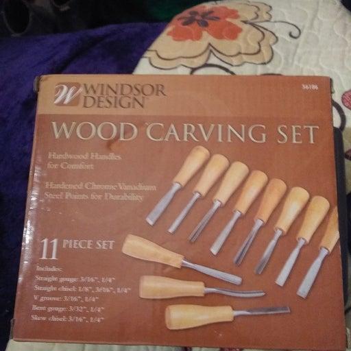 Wood carving set