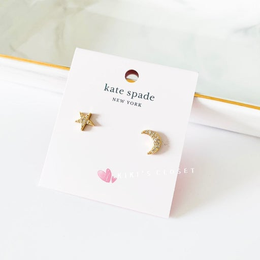 Kate Spade Star and Moon Stud Earrings