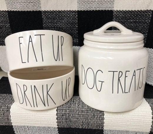 Rae Dunn dog bowl
