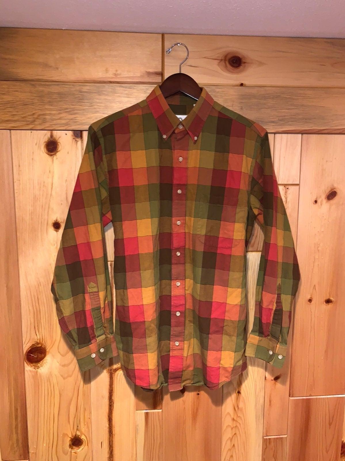 Mens Vintage VIYELLA Cotton/Wool Shirt M