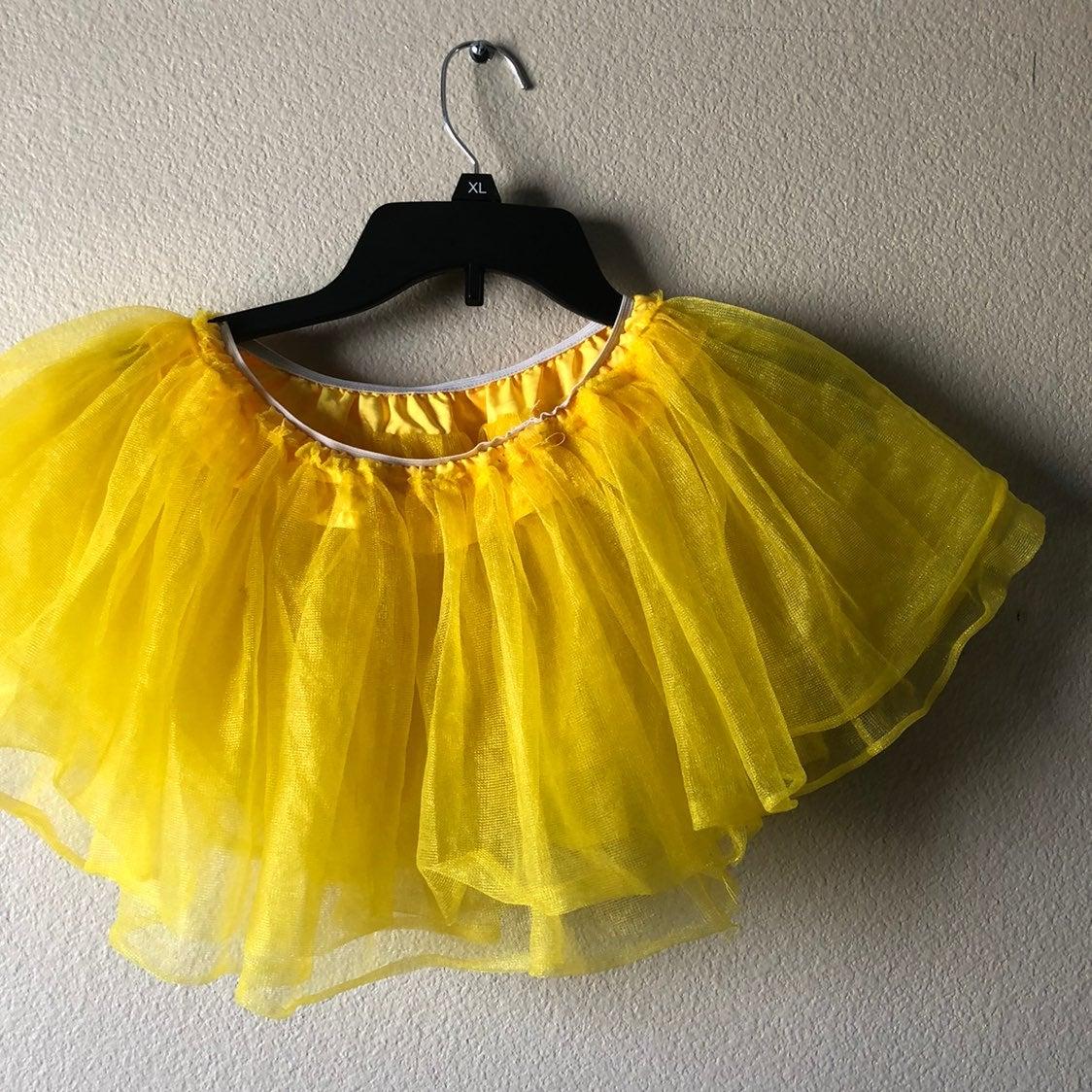 Yellow Youth Tutu Halloween