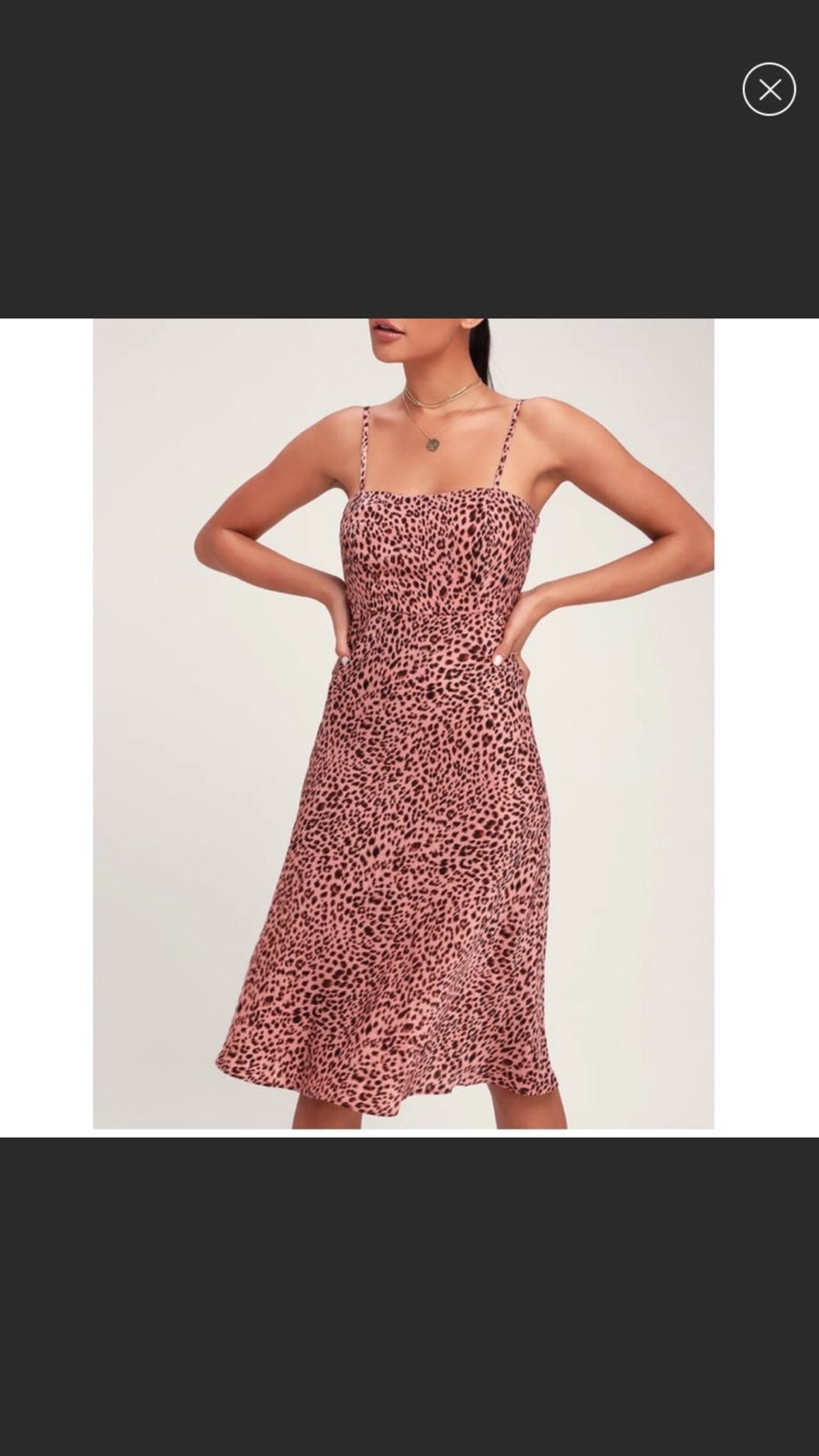 Lulus Midi Leopard Dress