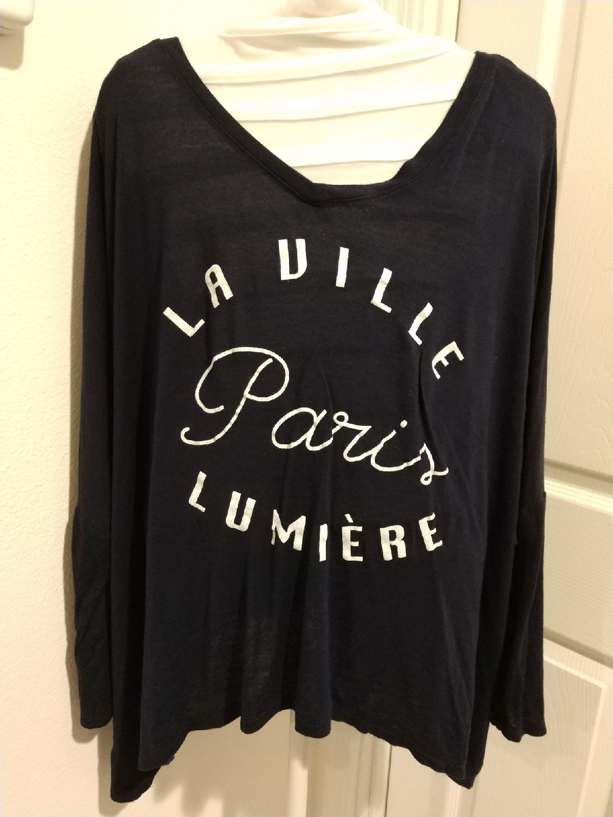 Cotton On Navy Blue Graphic Top Large
