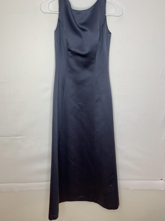 Alex Evenings Womens Designer Dress Blue
