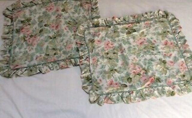 Shabby Chic Cottage Rose Pillow Shams 2