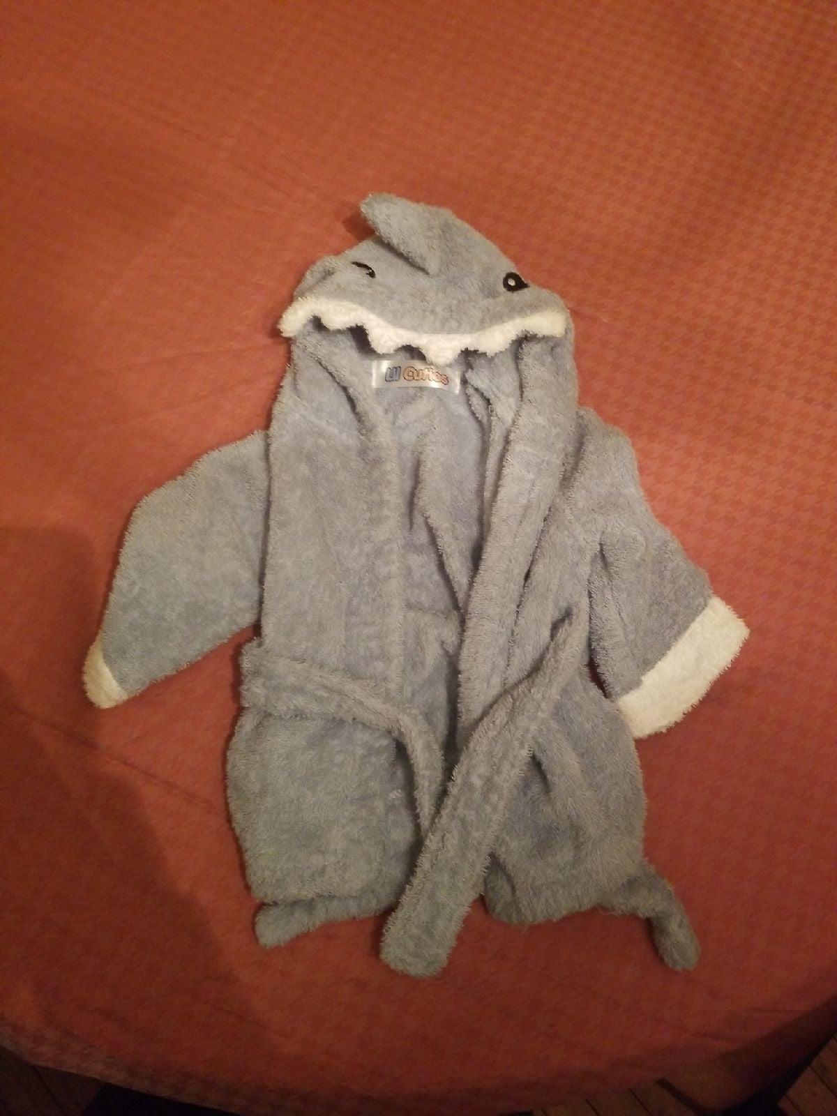 Lil cuties beach towel shark design baby
