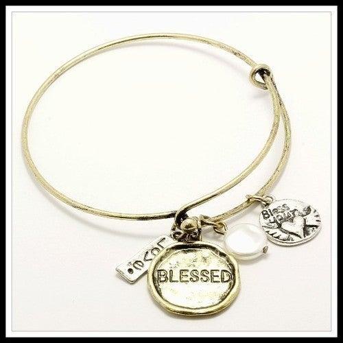 Blessed Charm Bangle Bracelet