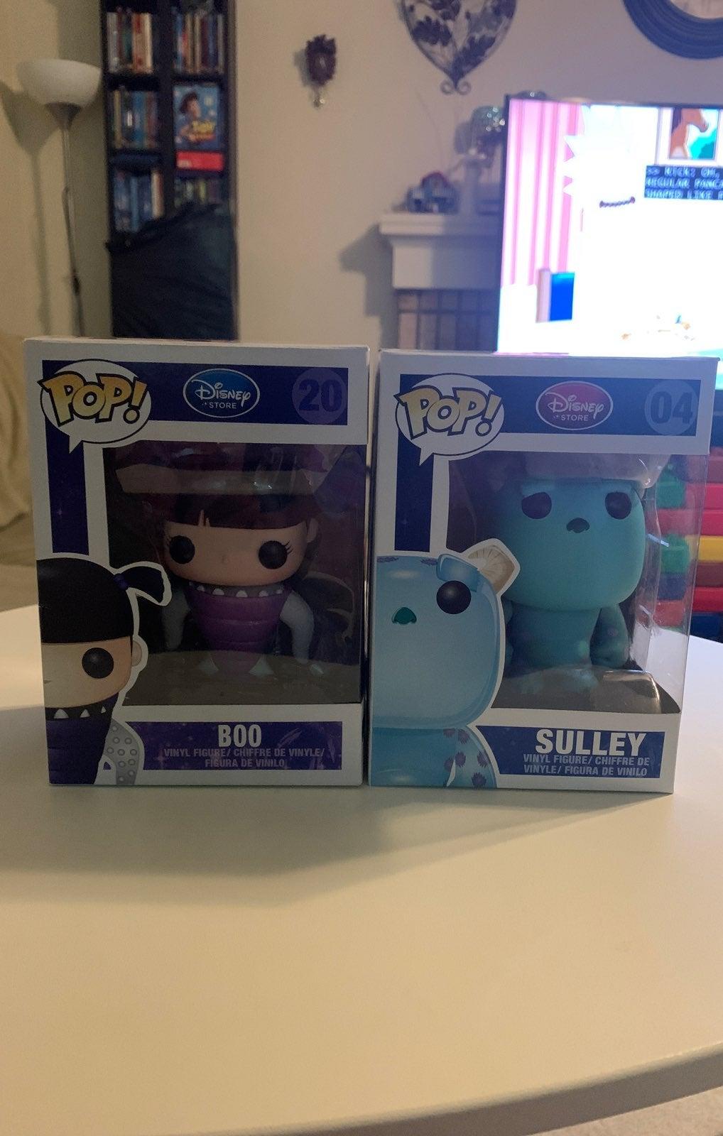 Funko Pop Sulley and Boo