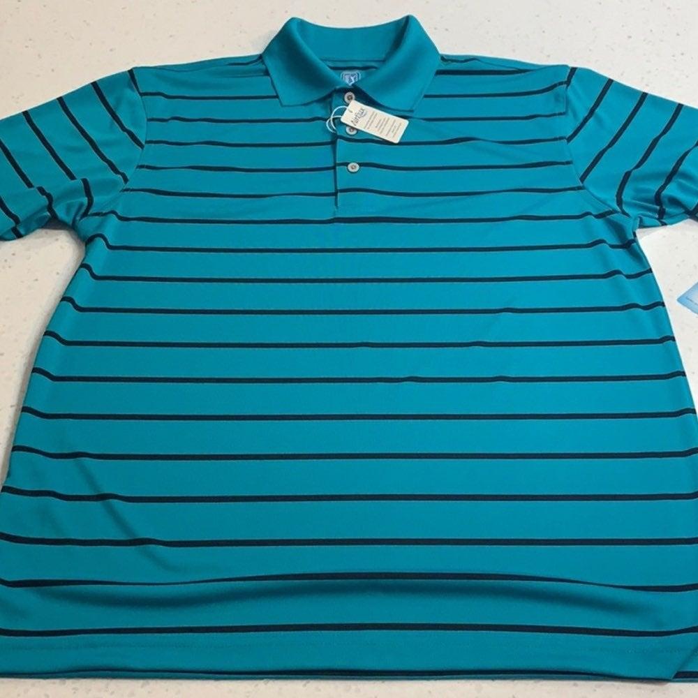 NWT PGA Tour striped short sleeve polo