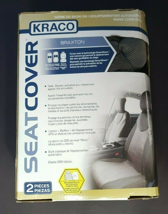 2 KRACO CAR SEAT COVER 2 PIECES Gray