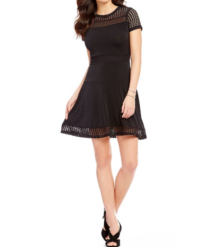 MICHAEL Michael Kors Black Mesh Dress