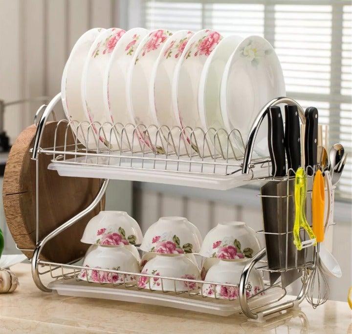 New Premium Dish Drying Rack Organizer