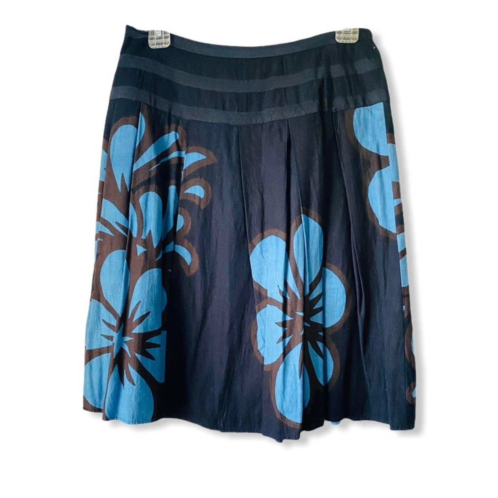 Anthropoligie IPSA Floral Print Skirt