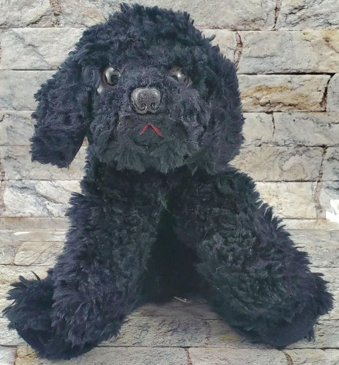 RUSS MUFFIN Black Dog Stuffed PLUSH TOY