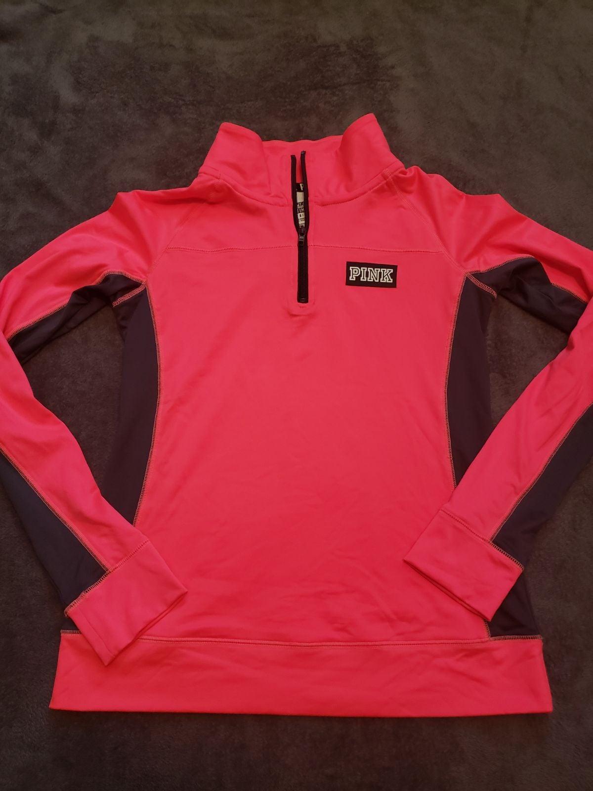 Neon red quarter ultimate zip pink