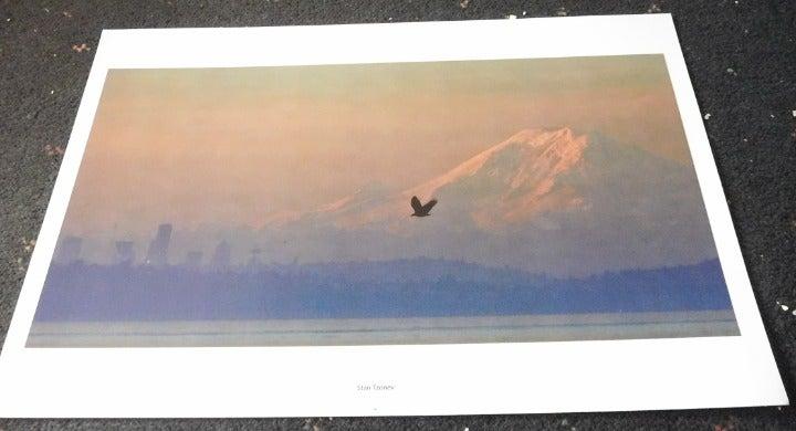Landscape with Eagle in Flight Wall Art