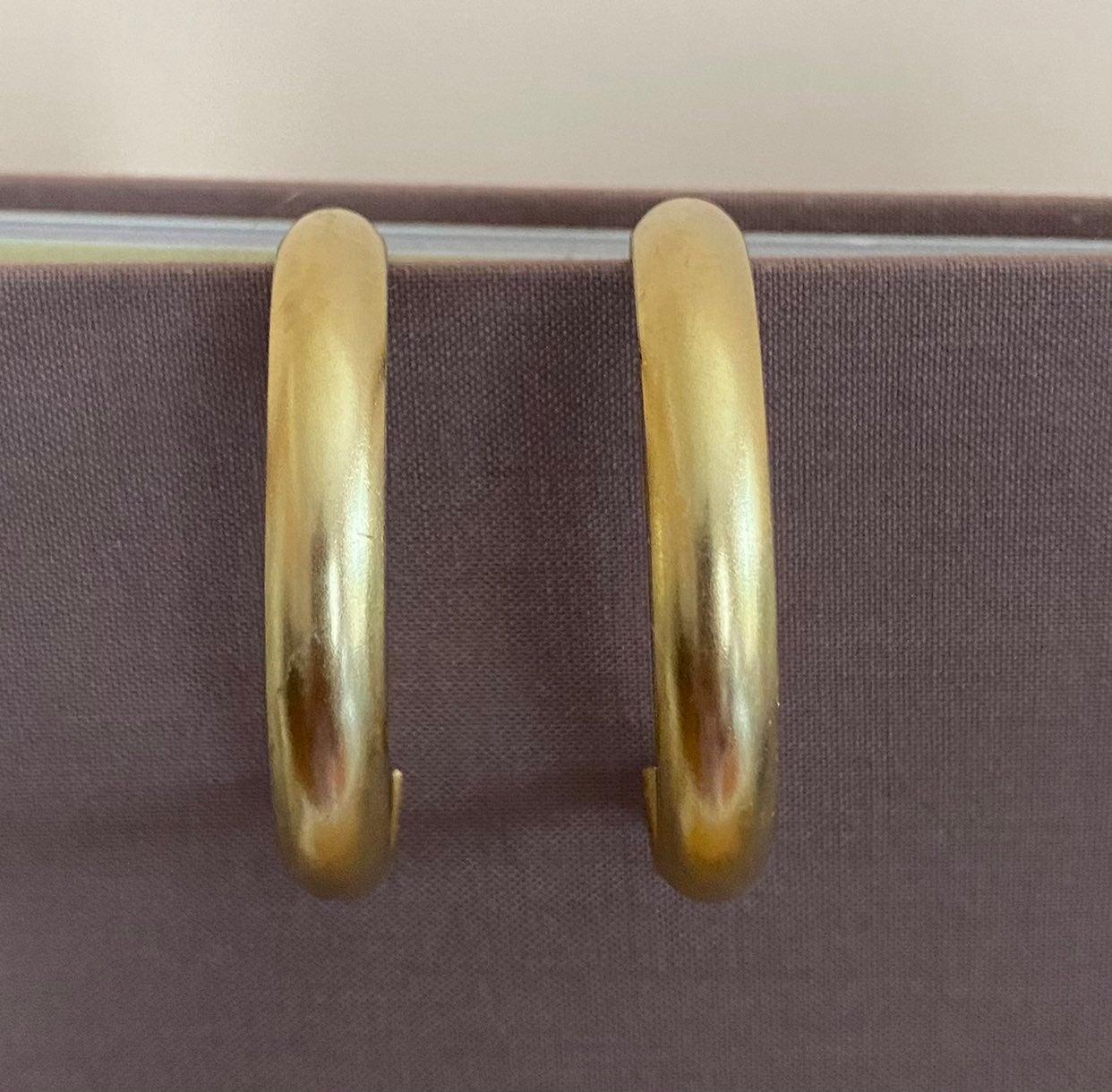 Susan Shaw Gold Hoop Earring