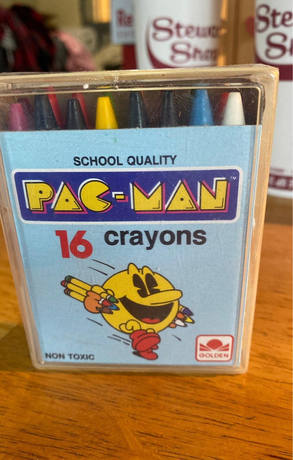 Pac-Man Crayons vintage