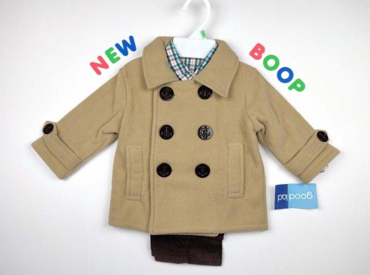 Boys Clothes 3 PC Coat Outfit Set 24m