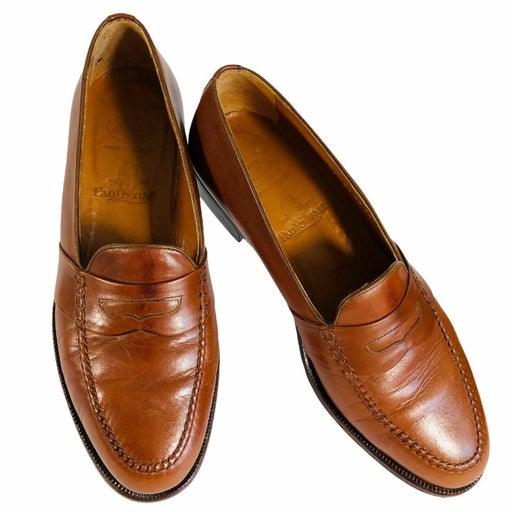 Paul Stuart Brown Penny Loafers Shoes