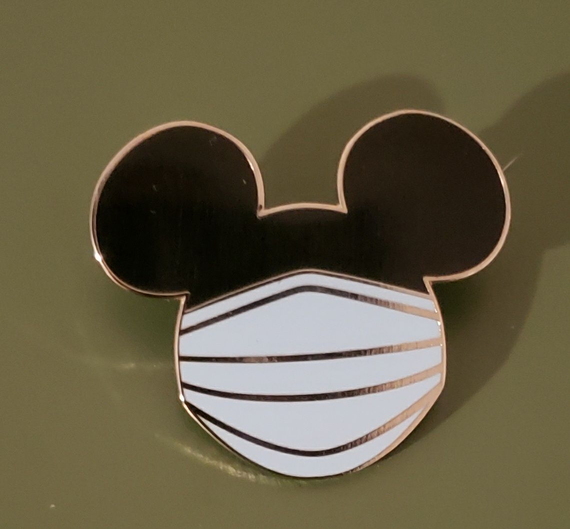 Mickey Mouse face mask Pin