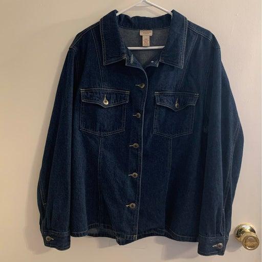 CROSSROADS Woman Size 20W Denim Jacket
