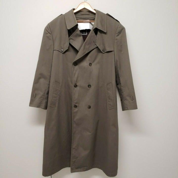 Christian Dior Men Brown Trench Coat 42L