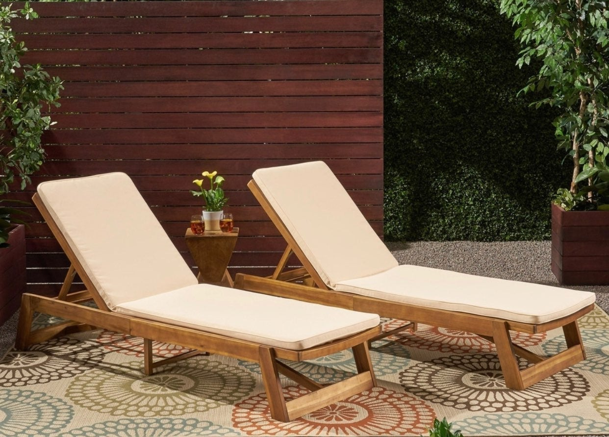 Nadine Outdoor Fabric Chaise Lounge Cush