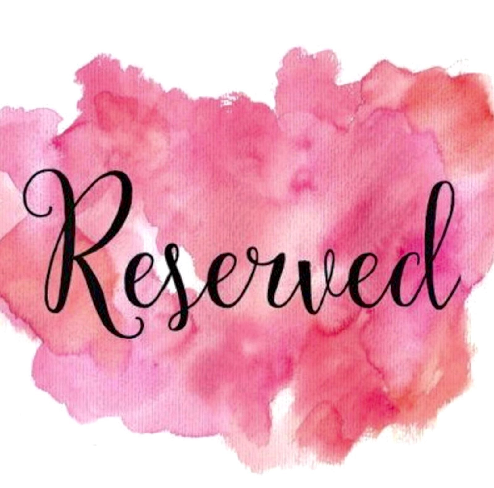 RESERVED LISTING for Latitia Gillespie