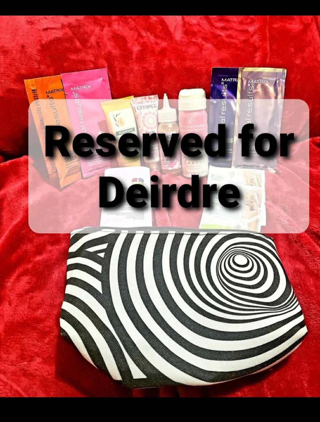 Reserved for Deirdre